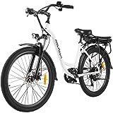 """ANCHEER 26"""" Bici Elettrica, Ebike Città con Batteria Rimovibile 12,5 Ah Integrata nel Telaio Posteriore 30 Miglia Freni…"""
