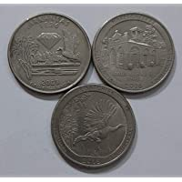 AL. EN. SONS, Coins and Stamps, 100% Genuine, UNCIRCULATED, Three Foreign Coins Set for Collection, School Project Work…