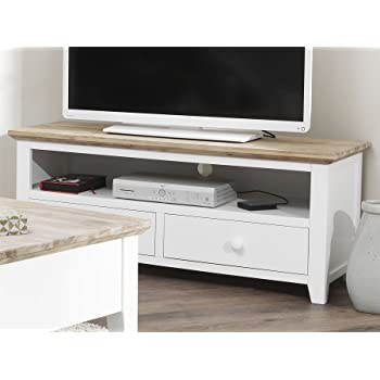 Florence Tv Unit With 2 Drawers White Tv Stand With Shelf And