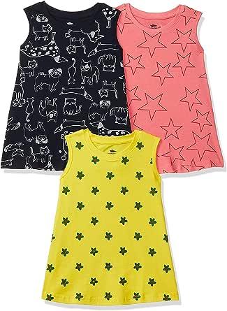 SOUTH SAILOR Girl's A-Line Knee Length Dress (Pack of 3)