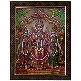 Lalitha Photo Frame Works Lord Subramanya Murugan Valli Devasena Photo Frame for Pooja