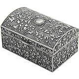Aveson Metalowa szkatułka na biżuterię, szkatułka na biżuterię, dla kobiet, dziewcząt, kolczyki, pudełko na biżuterię, pudełk