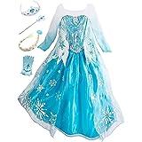 YOSICIL Princesa Disfraz de Princesa Frozen Elsa Disfraces de Princesa Gradiente Fancy Dress Elasticidad niña Lentejuela Impr