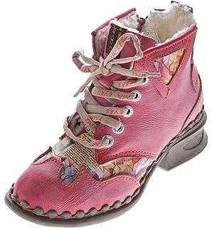 TMA Damen Leder Winter Stiefeletten Comfort Boots 5061