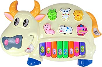 Fantasy India with 3 Modes Animal Sounds, Flashing Lights & Music, Cow Piano