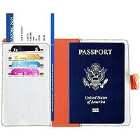 RFID Passport Holder Wallet Cover - Travel Document Passport Case for Women Men