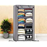 Keekos Collapsible Wardrobe Organizer, Storage Rack for Kids and Women, Clothes Cabinet, Bedroom Organiser with 6…