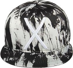 Noise Black-White Textured Snapback Cap