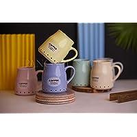 Coffee Mug 200ml Ceramic Coffee Mugs 6 Piece Coffee Mug Set Microwave Safe Coffee/Milk Mug Multi Color