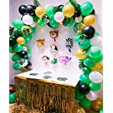 Buena Ventura's Themez Only Jungle / Animal Theme First Birthday Decoration Balloons kit - Pack of 56 pcs