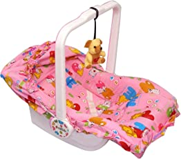 Ehomekart Kid's Carry Cot - 7 in 1 with Bottle Holder (Print May Vary) - Mosquito NET, Feeding Chair, Baby Chair, Rocker, Bath TUB, Carrying