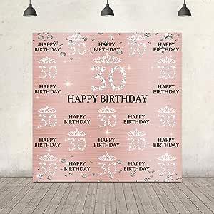 Fotohintergrund Für Den 30 Geburtstag Roségold Kamera