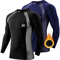 MEETWEE Men's Thermal Underwear Tops, Thermals Shirts Base Layer Top Compression Long Sleeve Tee-Shirt Sport Fleece…