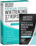 Bandes de blanchiment dentaire au charbon actif - Blanchiment des dents - 28 Rubans Blanc professionnel soit 14 jours d'approvisionnement- Blanchiment dentaire Pro Teeth Whitening Co®