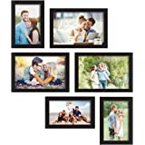 Art street Classy Memory Wall Photo Frames - Set of 6 Photo Frames (3 Units of 4X6, 3 Units of 5X7)