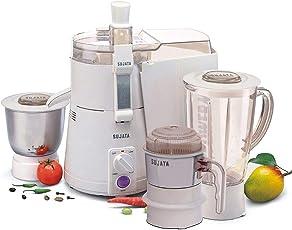 Sujata Powermatic Plus with Free Chutney Jar 900-Watt Juicer Mixer Grinder (White)