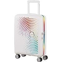 American Tourister Soundbox Spinner S Pride, Blanc (pois arc-en-ciel)