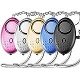 Lingge Zakalarm 130 DB persoonlijk alarm paniekalarm sleutelhanger met LED-licht voor vrouwen meisjes kinderen en ouderen 5 s