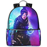 Apex Legends Game Backpack, DISINIBITA Durable Back to School Bag Laptop Bag Daypack for Kids Adult
