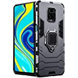 Amzio Back Cover for Redmi Note 9 Pro/Note 9 Pro Max/Poco M2 Pro Back Cover Case Bumper Protection Armor with Ring Holder Bac