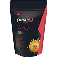 Powerus Whey Protein 1kg (Coffee), Whey Concentrate and Whey Protein Isolate with 24g Protein, 5.3g BCAA, 4.1g Glutamine