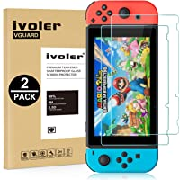 ivoler [2 Stücke] Panzerglas Schutzfolie für Nintendo Switch, [9H Härte] [Anti- Kratzer] [Bläschenfrei] [2.5D Runde…
