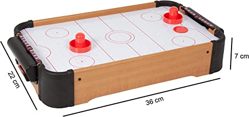 Fantasy Kids Wooden Indoor Mini Air Hockey Game Table (Multicolour)