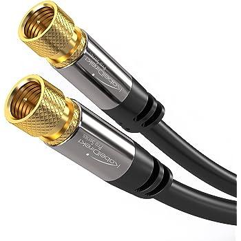 KabelDirekt - Sat Kabel - 1,5m - (F-Stecker, 75 Ohm, F Stecker Koaxialkabel Geeignet für TV, HDTV, Radio, DVB-T, DVB-C, DVB-S, DVB-S2) - Pro Series