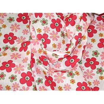 Per HALF metre Summer garden floral fabric 3 colours POLYCOTTON 112 cm wide