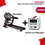 Powermax Fitness TDA-260 (2.0 HP) Multifunctio Motorized Treadmill