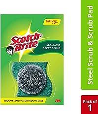 Scotch-Brite® Scrub Pad Small (1pc)  and Steel (1pc) Combo