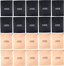 AFEO Black and Beige Non-Woven Fabric Shoe Bag, Pack of 20