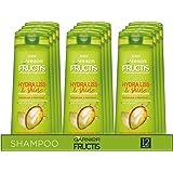 Garnier Multi Pack Shampoo Fructis Hydra Liss & Shine, Shampoo per Capelli Difficili da Lisciare, Secchi o Crespi, 250 ml, Co