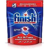 اقراص تنظيف لغسالات الاطباق الكل في واحد من فنش، عادية، 53 قرصا