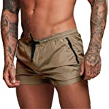 Men's Quick Dry Swim Trunks Casual Summer Beach Board Shorts Swimming Short Pants with Zipper Enclose Pockets