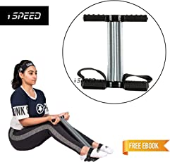 Ispeed Unisex Tummy Trimmer Abs Exerciser with Double Spring with E-Book (121000)