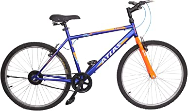 Atlas Axton 26 inches Single Speed Bike for Adults Blue & Orange