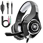Beexcellent Casque Gaming, Casque Gaming pour PS4 Xbox one avec Micro Stéréo Audio Basses Profondes LED Lumière Contrôle...