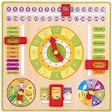 Kalendarz Dla Dzieci Nauka Zegar Zabawka WiszÄca Zabawka Edukacyjna Wczesna Edukacja Prezent Urodzinowy Czas Data Sezon Pogod