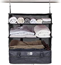 Nasher Miles Grey Polyester Travel Closet