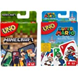 UNO Super Mario Card Game And UNO Minecraft Card Game Family Party Board Game Kids Toys