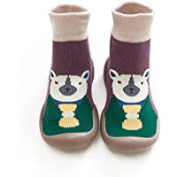 Shadiao and Winter Cartoon Socks Shoes Toddler Shoes Boys Girls First Walk Shoes Thicken Anti Slip