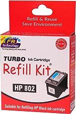 Turbo Ink Cartridge Refill Kit For Hp 802 Black