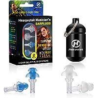 Hearprotek Musik Gehörschutz Ohrstöpsel, 2 Paar Gehörschutz Ohrstöpsel-23db für Musik, Festival, Disco, Musiker…