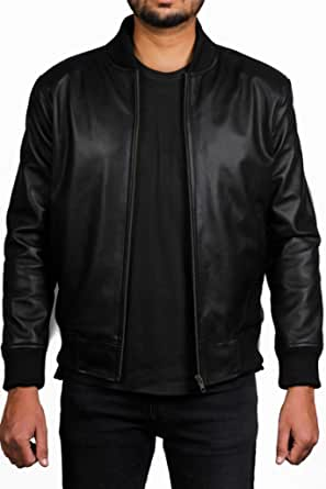 Leather Jacket Mens - Biker Jacket Mens - Mens Jackets Casual Smart - Winter Mens Leather Jackets
