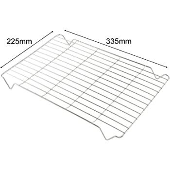 SPARES2GO Large Grill Pan Rack Insert Tray for Swan Oven Cookers