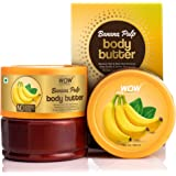 WOW Skin Science Banana Pulp Body Butter for Hydrating & Softening Rough Skin - For All Skin Types - No Parabens, Silicones,