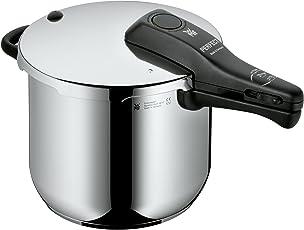 WMF Perfect Schnellkochtopf 6,5l, Cromargan Edelstahl poliert, 2 Kochstufen Einhand-Kochstufenregler, induktionsgeeignet, spülmaschinengeeignet, Ø 22 cm