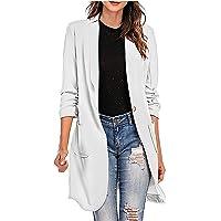 Blazer da donna casual aperto davanti manica lunga lavoro ufficio giacca giacca cappotto solido Outwear cappotto