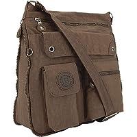 ekavale - leichte Damen-Umhängetasche - Praktische Crossbody-Handtasche - mit vielen fächern - Schultertasche…